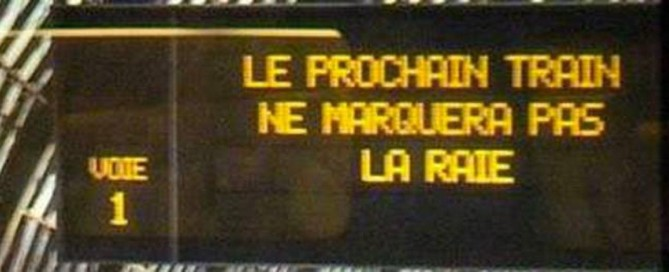 fautes d'orthographe sncf